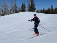 Video: Skiing on Skate Skis from Teton Pass to Mosquito Creek